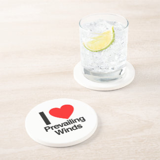 i love prevailing winds drink coaster