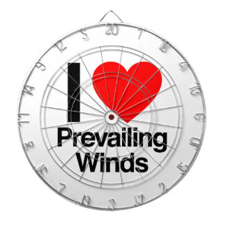 i love prevailing winds dartboard with darts