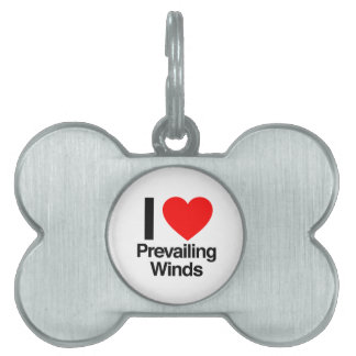 i love prevailing winds pet ID tag