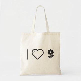 I Love Price Flowers Budget Tote Bag