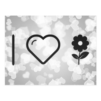 I Love Price Flowers Postcard