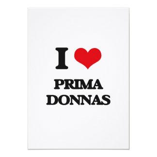 I Love Prima Donnas 5x7 Paper Invitation Card