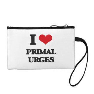 I Love Primal Urges Coin Purses