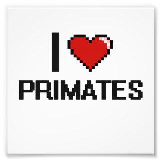 I love Primates Digital Design Photo Print