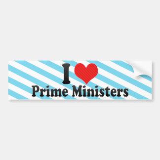 I Love Prime Ministers Bumper Stickers