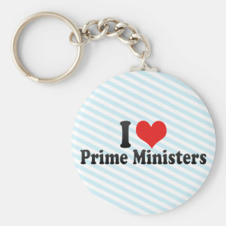I Love Prime Ministers Key Chain