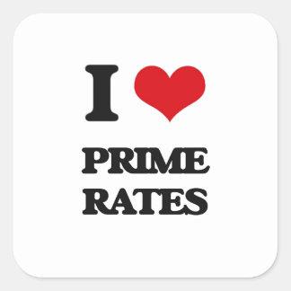I Love Prime Rates Square Sticker