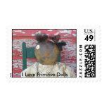 I Love Primitive Dolls Stamps