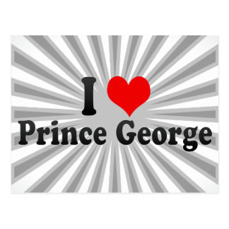 I Love Prince George, Canada Postcard