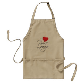 I Love Prince George, Red Heart Adult Apron