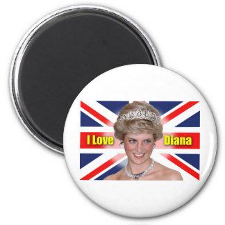 I Love Princess Diana 2 Inch Round Magnet