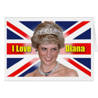 I Love Princess Diana Greeting Cards