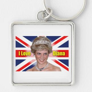 I Love Princess Diana Keychains