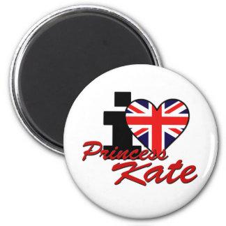 I Love Princess Kate 2 Inch Round Magnet
