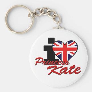 I Love Princess Kate Basic Round Button Keychain