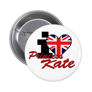I Love Princess Kate 2 Inch Round Button
