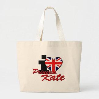 I Love Princess Kate Large Tote Bag