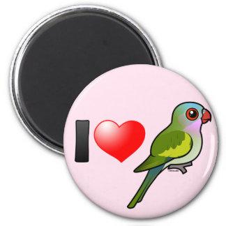 I Love Princess Parrots 2 Inch Round Magnet