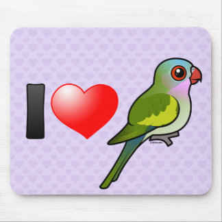 I Love Princess Parrots Mouse Pads