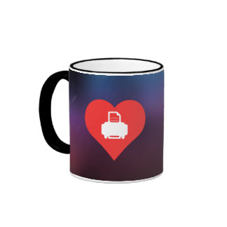 I Love Printer Cartridges Ringer Coffee Mug