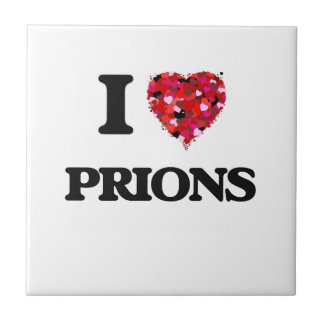 I love Prions Small Square Tile