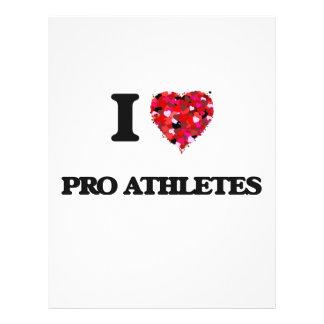 "I love Pro Athletes 8.5"" X 11"" Flyer"
