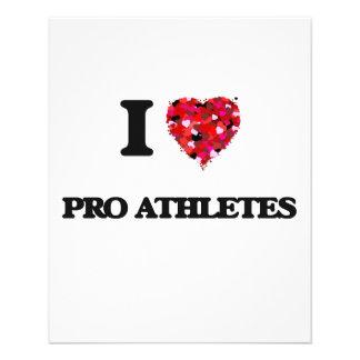 "I love Pro Athletes 4.5"" X 5.6"" Flyer"