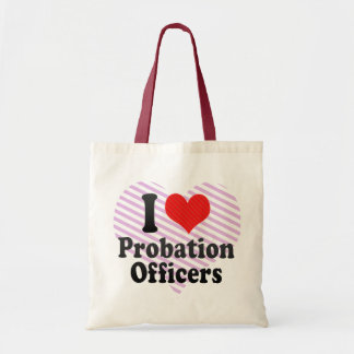I Love Probation Officers Tote Bags