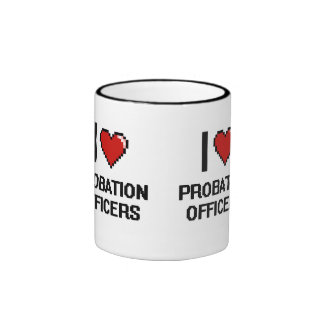 I love Probation Officers Ringer Mug