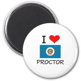 I Love Proctor Minnesota 2 Inch Round Magnet