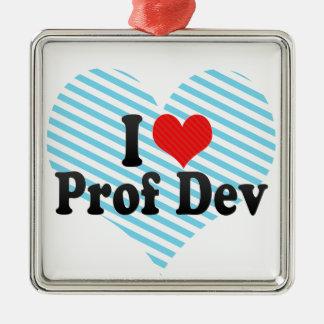 I Love Prof Dev Christmas Ornament