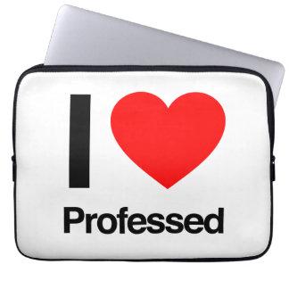 i love professed laptop computer sleeve