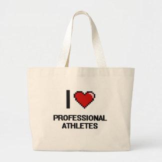 I love Professional Athletes Jumbo Tote Bag
