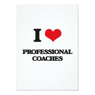 I love Professional Coaches 5x7 Paper Invitation Card