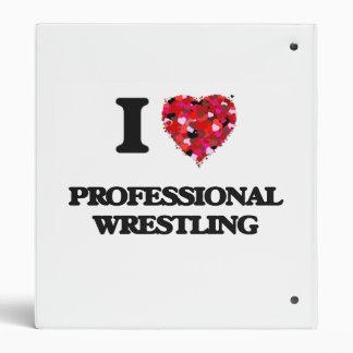 I Love Professional Wrestling Vinyl Binder