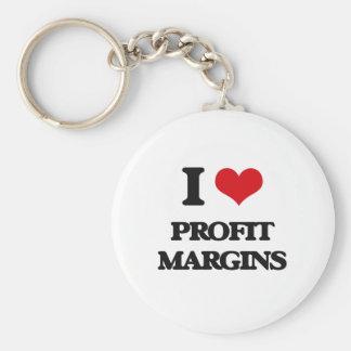 I Love Profit Margins Keychain