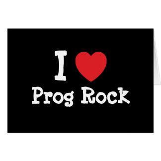 I love Prog Rock heart custom personalized Greeting Card