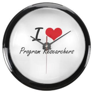 I love Program Researchers Aquarium Clocks