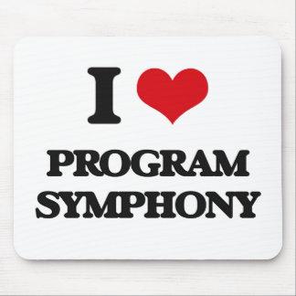 I Love PROGRAM SYMPHONY Mouse Pad