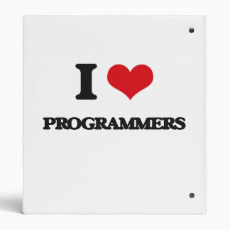 I Love Programmers Vinyl Binder