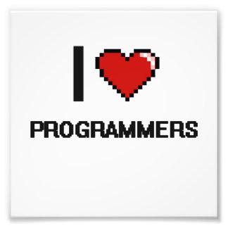I love Programmers Photo Print