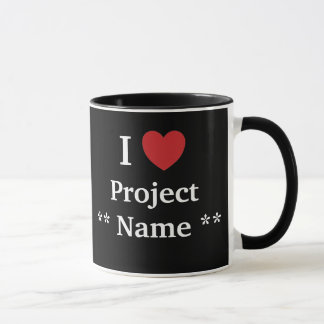 I Love Project ? / Loves Me Personalisable Team Mug