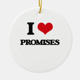 I Love Promises Double-Sided Ceramic Round Christmas Ornament
