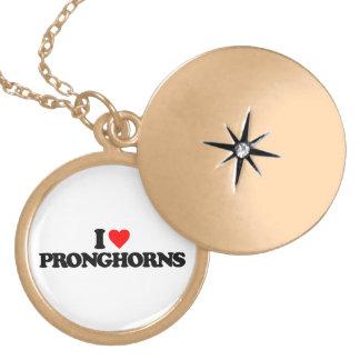 I LOVE PRONGHORNS PENDANT