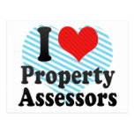 I Love Property Assessors Post Cards