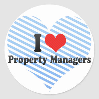 I Love Property Managers Classic Round Sticker