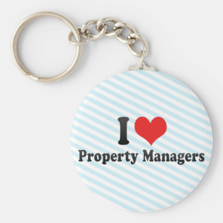 I Love Property Managers Key Chain