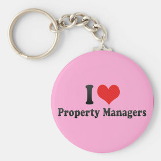 I Love Property Managers Keychain