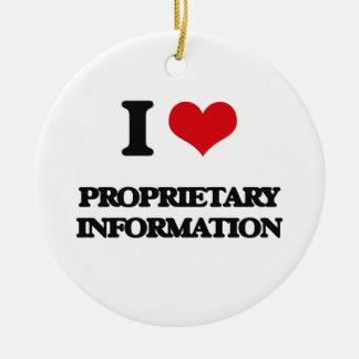 I Love Proprietary Information Round Ceramic Ornament