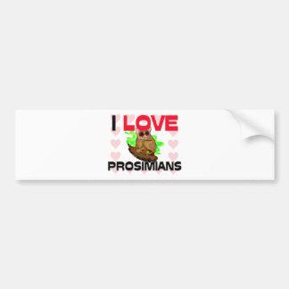 I Love Prosimians Bumper Sticker